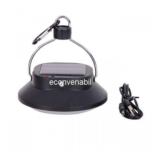 Lampa LED 3W incarcare USB si Solara cu Slot USB JS2868 foto mare
