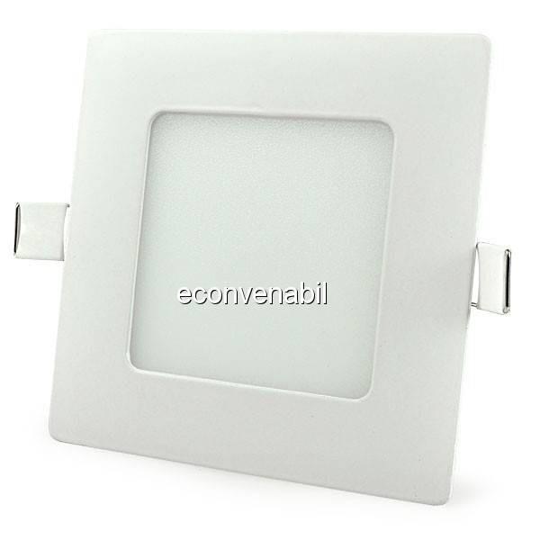 Spot Incastrabil Patrat LED 6W Alb Rece foto mare