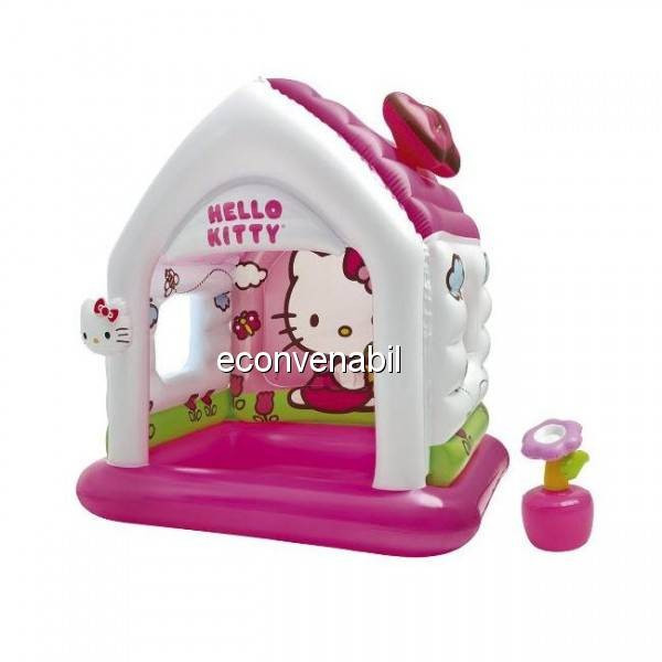 Casuta Gonflabila de Joaca Intex 48631 Hello Kitty foto mare