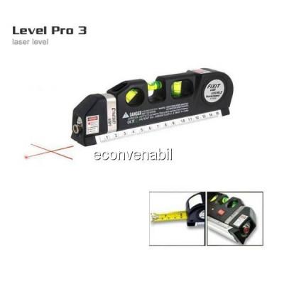 Nivela Laser cu Boloboc si Ruleta 2.5m Fixit Level Pro 3 foto