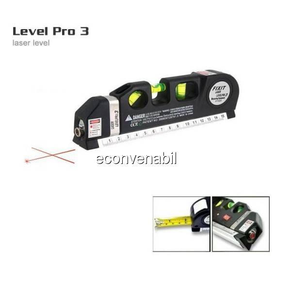 Nivela Laser cu Boloboc si Ruleta 2.5m Fixit Level Pro 3 foto mare