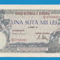 100000 lei 1946 20 decembrie 3 aUNC - Bancnota romaneasca