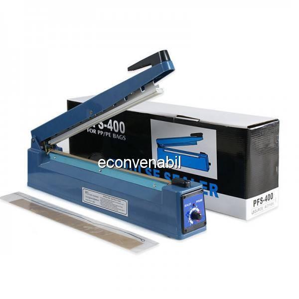 Aparat de Lipit Pungi Impulse Sealer 400mm PFS400 foto mare