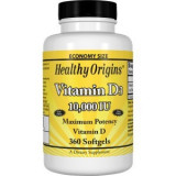 SUPLIMENT ALIMENTAR - Vitamin D3, 10, 000 IU, Healthy Origins, 360 Softgels