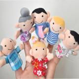 Joc autism logoped mascote degete membrii familei teatru papusi degete educative