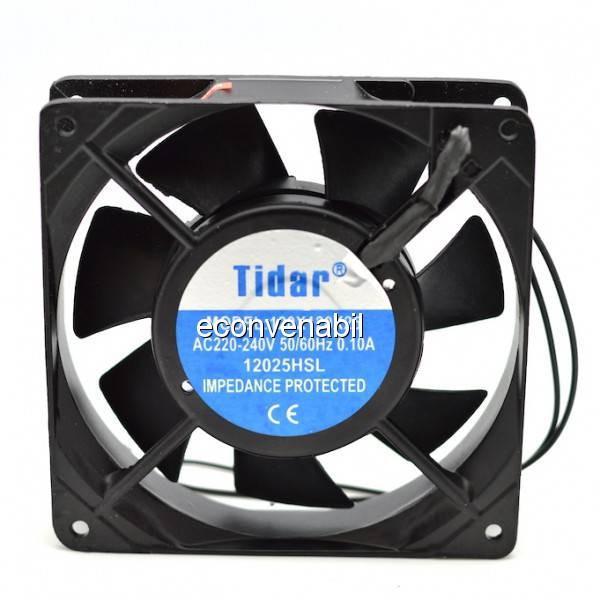 Cooler Ventilator Metalic 220V 0.10A 120x120x25mm 12025HSL Tidar foto mare