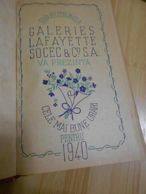 AGENDA GALERIILOR LAFAYETTE - 1940 foto
