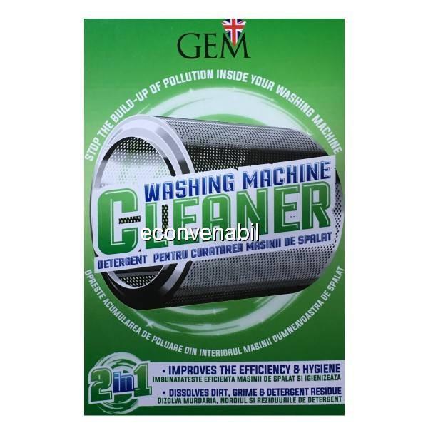 GEM Detergent pentru Curatarea Masinii de Spalat Rufe 2in1 2x125g foto mare