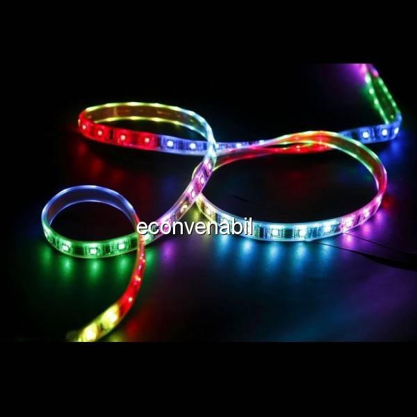 Banda LED SMD 5m 270 LEDuri 6 Culori cu Telecomanda foto mare