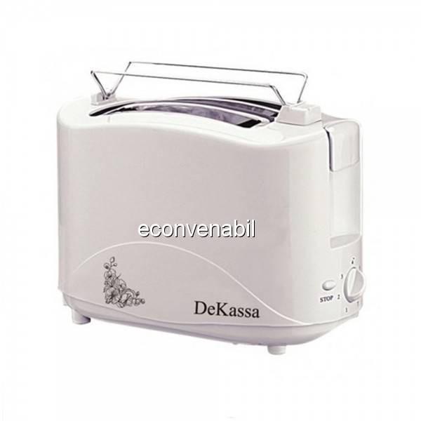 Toaster Prajitor de paine cu 2 felii DeKassa DK1517 foto mare