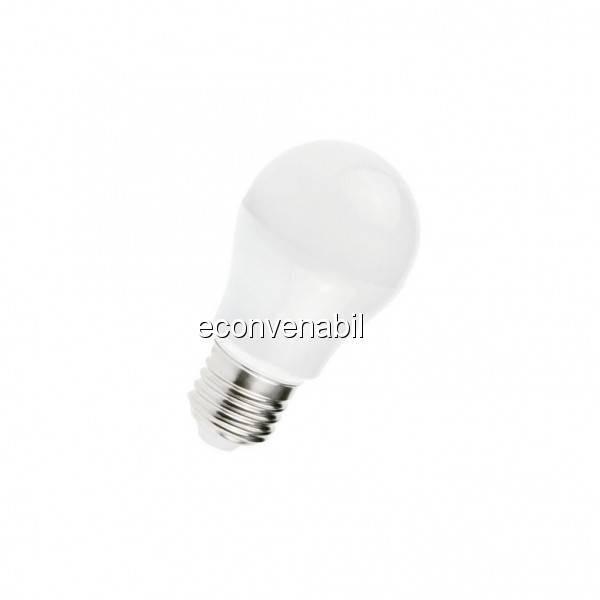 Bec cu LED 5W Alb Rece soclu E27 220V Glob Mat TKO foto mare