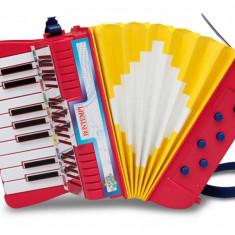 Jucarie acordeon cu 17 clape si bass Bontempi - Instrumente muzicale copii