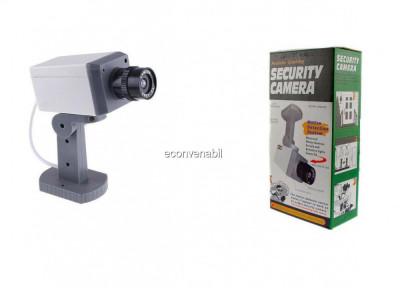 Camera de supraveghere falsa cu senzor de miscare si led foto