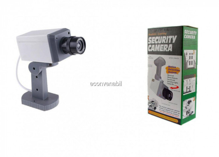 Camera de supraveghere falsa cu senzor de miscare si led foto mare