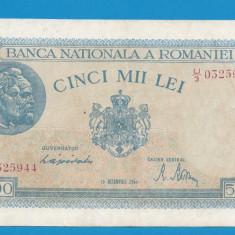 5000 lei 1944 15 Decembrie 1 XF - Bancnota romaneasca