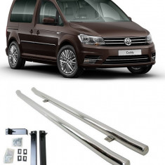 Praguri laterale din inox Vw Caddy 2015-2017 - Ornamente exterioare auto