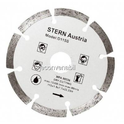 Disc Diamantat Segmentat taiere uscata Flex 115mm Stern D115S foto