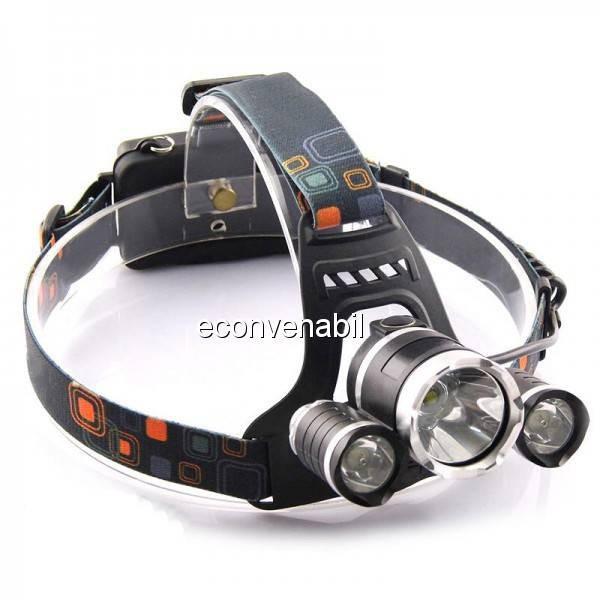 Lanterna Frontala LEDuri 5W cu Zoom si Acumulatori 12V 220V MX5899T6 foto mare