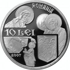 Romania - 10 Lei 2007 - 31.103 gr Argint g 999 - Biserica SNAGOV - PROOF - Moneda Romania