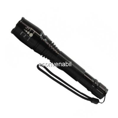 Lanterna LED 220V cu Zoom, Suport Bicicleta, Acumulatori 18650 R8668 foto