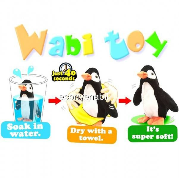 Wabi Toys Jucarii de Plus pentru Copii Expandabile in Apa foto mare