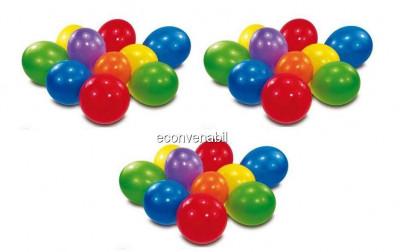 Set 100 baloane rotunde multicolore diverse culori foto