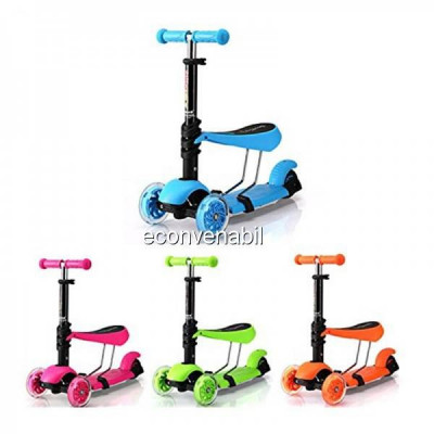 Trotineta Copii Micro Scooter 3in1 2-7 Ani 25Kg foto