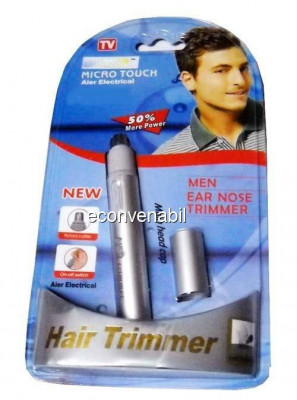 Micro touch trimmer pentru parul nedorit din nas si urechi cnaier ae822 foto