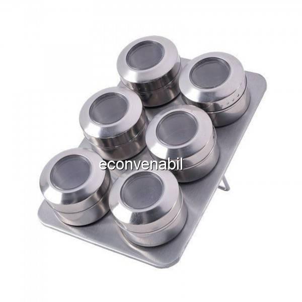 Set magnetic pentru condimente 7 piese Bohmann BH7817 foto mare