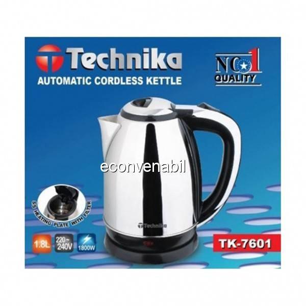 Cana fierbator 1.8L 1800W Technika TK7601 foto mare