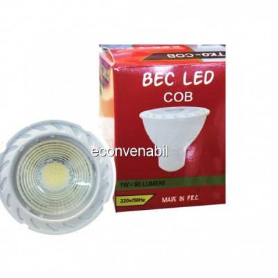 Bec Cob LED 5W Alb Rece GU10 220V TKO foto