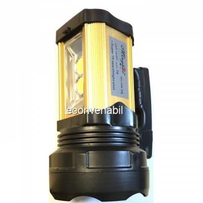 Lanterna LED T6 15W + 20W COB LED 398 cu Acumulator si USB foto