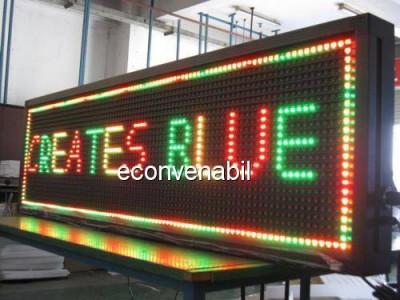 Reclama Luminoasa cu LEDuri Color 137x40cm foto