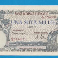 100000 lei 1946 20 decembrie 19 aUNC - Bancnota romaneasca
