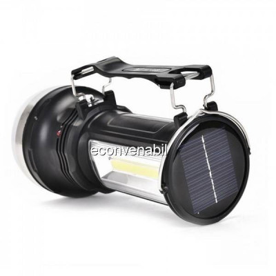 Lanterna LED 1W+3W COB LED Acumulator Incarcare Solara si 220V KC668 foto