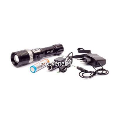 Lanterna LED 3W Zoom cu Acumulator si Alarma ZYR851 foto