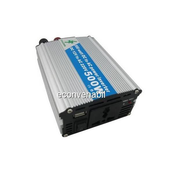 Invertor Auto 12V la 220V 500W Chaomin cu USB si Priza 220V foto mare