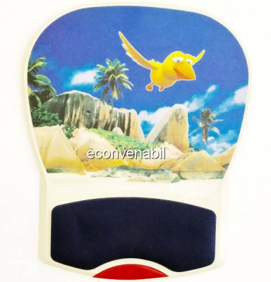 Mouse Pad Rigid, Suport Mouse cu Pernita Silicon BN838 foto