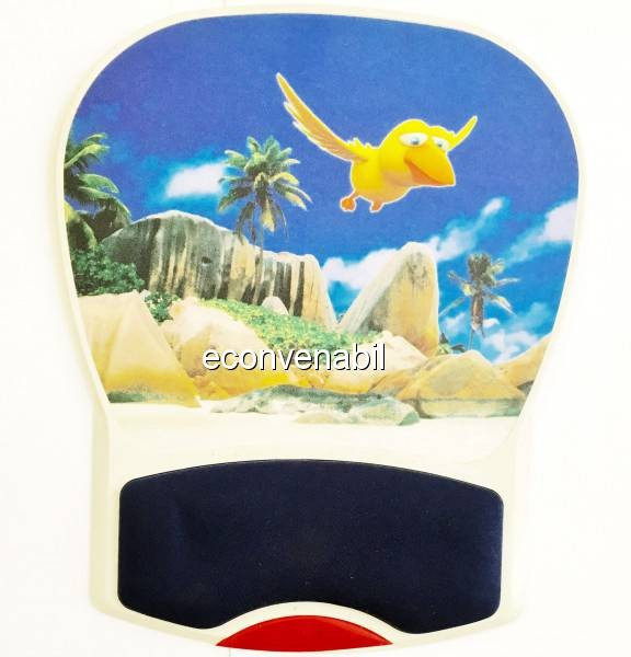 Mouse Pad Rigid, Suport Mouse cu Pernita Silicon BN838 foto mare