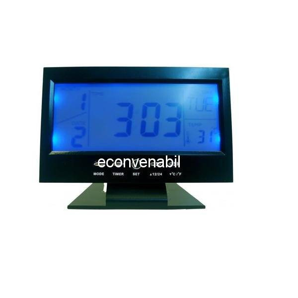 Ceas Electronic Digital cu Senzor Acustic Alarma si Termometru DS8082 foto mare