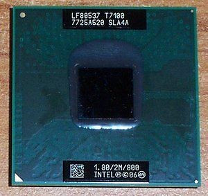 Procesor Laptop Intel Core2Duo T7100 1800Mhz/2M Cache/ FSB 800 foto