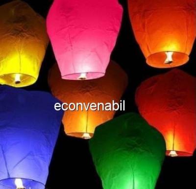 Lampioane Zburatoare Hartie cu Bambus Biodegradabile foto
