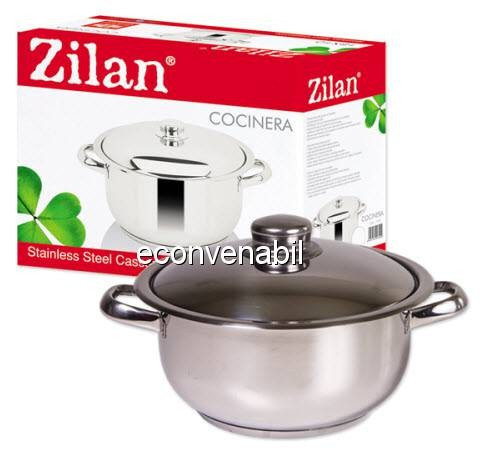 Oala Inox cu Capac 12L Zilan Cocinera ZLN7284 foto mare