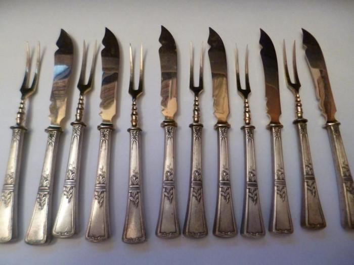 Set Tacim Argint Peste Anul 1880
