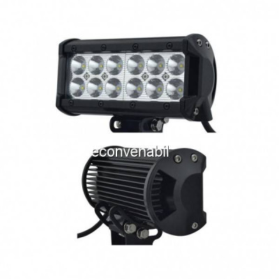 Proiector LED Bar Auto Offroad 12LED 36W 15cm 12V/24V foto