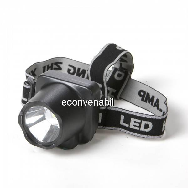 Lanterna Frontala LED 1W cu Acumulator MZX908 foto mare