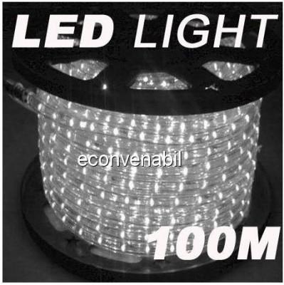 Furtun Luminos 100m 2300 LEDuri Alb Rece foto