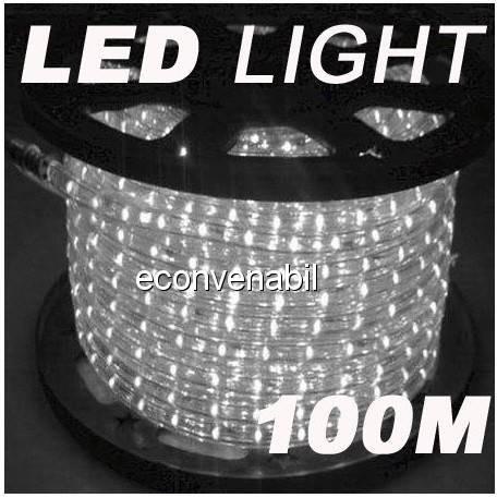 Furtun Luminos 100m 2300 LEDuri Alb Rece foto mare