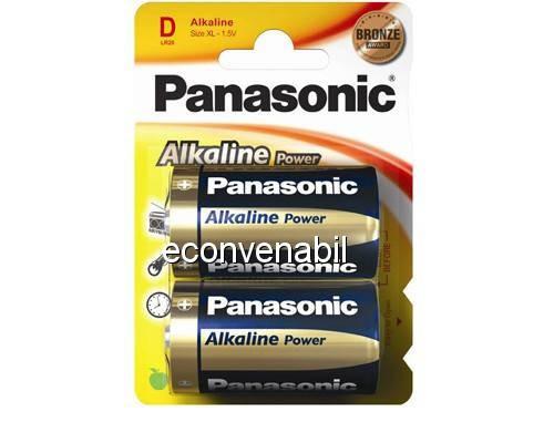 Panasonic baterii lr20 d alcaline 2 buc la blister foto mare