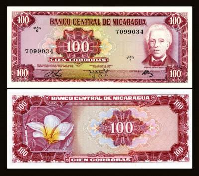 Nicaragua 1972 - 100 cordobas UNC foto